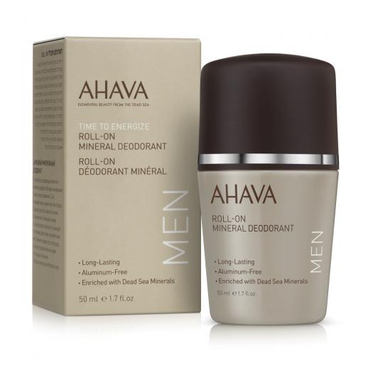 AHAVA Roll-On Mineral Deodorant for Men, 50ml