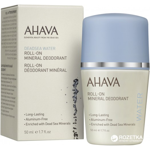 AHAVA Dead Sea Mineral Deodorant For Women, 50ml