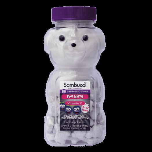 Sambucol for Kids, 60 Chewable Teddies
