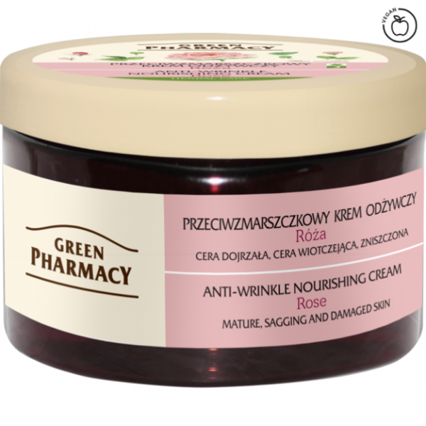 Green Pharmacy Facial Cream Anti-wrinkle Nourishing Rose, 150ml