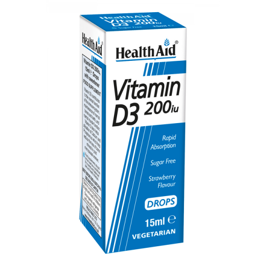 Health Aid Vitamin D3 200iu 15ml Drops